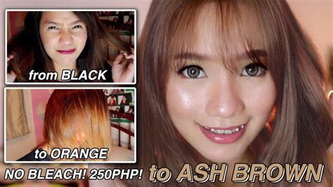 How To Dye Your Hair At Home Black To Ash Brown No
