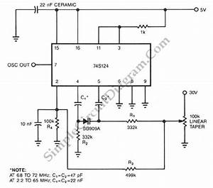 74s124 high frequency vco with varactor simple circuit With vco schematic