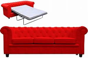 canape chesterfield convertible rouge matelas canapes 2 With tapis rouge avec canapé convertible design pas cher