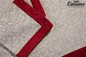 Tischdecke 350 X 150 : tischdecke saar 50 leinenjacquard rot grau 190x300cm ~ Watch28wear.com Haus und Dekorationen