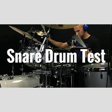Louie Palmer Tests Cambridge Drum Company 14x4 Beech Snare Drum Youtube