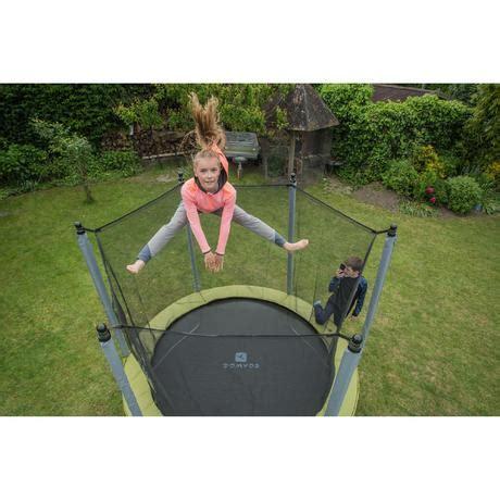 trampoline essential  groen veiligheidsnet domyos  decathlon