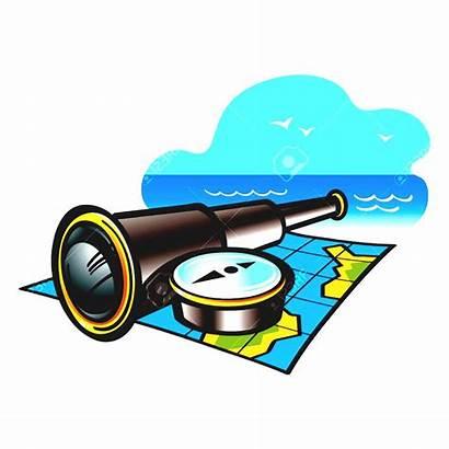Adventure Clipart Travel Map Sea Reading Ocean