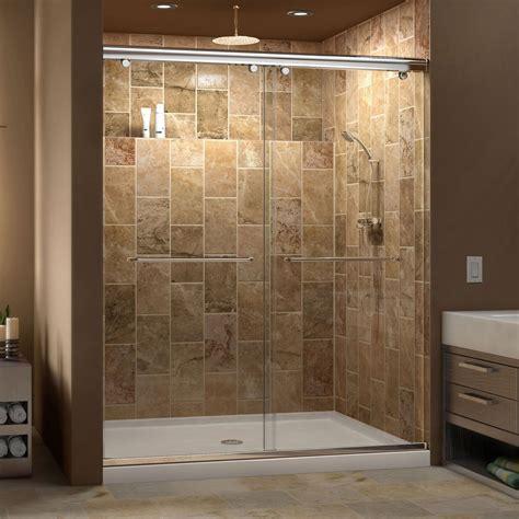 60 inch shower door dreamline charisma frameless bypass sliding shower door 3934