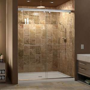 dreamline charisma frameless bypass sliding shower door With 34 inch barn door