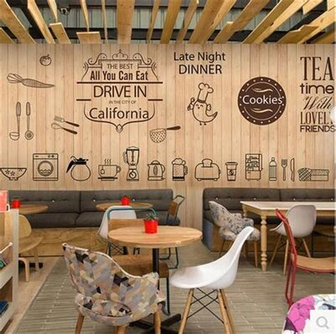 cute coffee icon large mural wallpaper cafe dessert tea