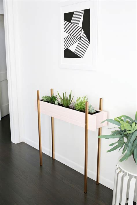 cherry wood paint 15 diy plant stands to fill your home with greenery