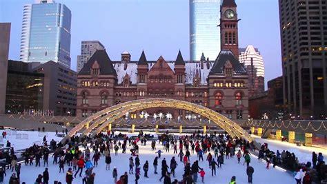 ice skating  holidays people ice stock footage video
