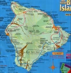 Hawaii Big Island Road Map
