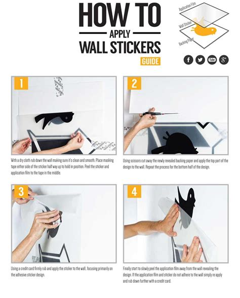 how to install a wall how to install wall decals wall stickers application instructions