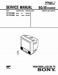 Sony Kv-tf21m80 Service Manual