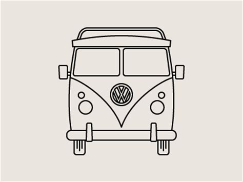 volkswagen bus drawing line drawings vw bus good offwhite color palette win