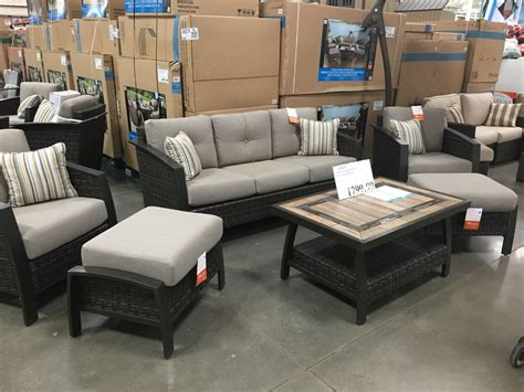 Outdoor Furniture Sets Costco by Agio International 6 Patio Set From Costco 1799