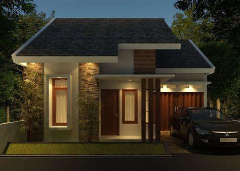 gambar tampak depan rumah minimalis  lantai  warna