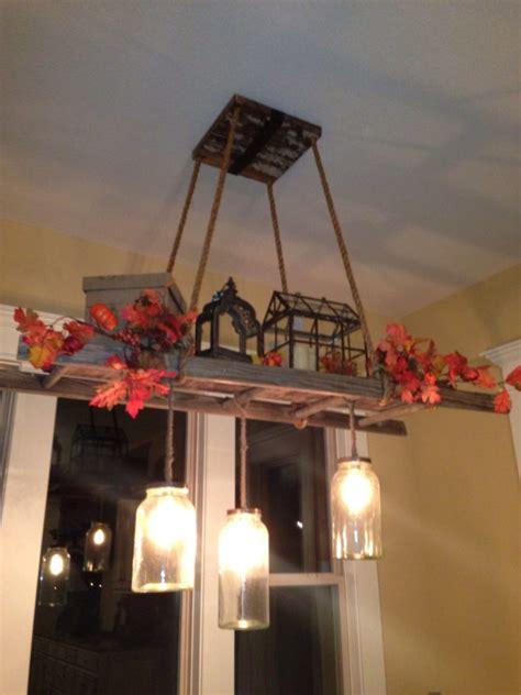 ladder light fixtures chandeliers diy ideas id
