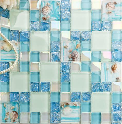 green crackle glass mosaic tile wall backspashes hand