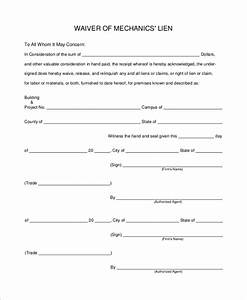 free waiver of lien form With waiver document free