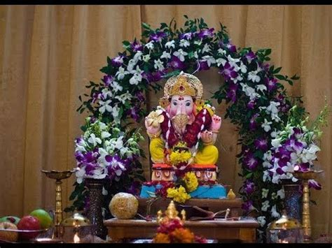 Ganpati Decorations Ideas - ganpati decoration ideas at home with artificial flowers