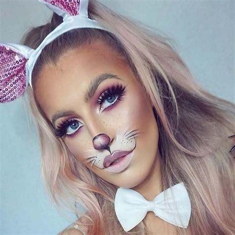 girly bunny rabbit amazing animal makeup    easily rock  halloween livingly