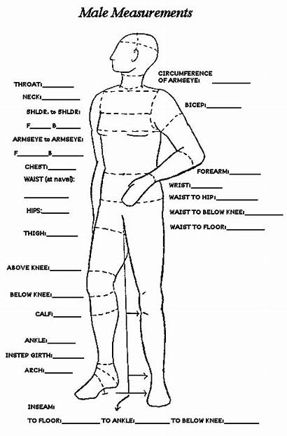 Measurement Measurements Chart Sewing Measuring Mens Male
