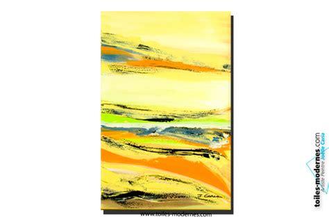 tableau chambre à coucher tableau cagne vert jaune orange format vertical