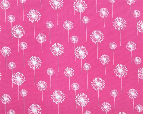 Small Dandelion Candy Pink / White Fabric