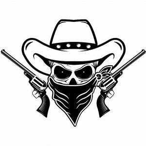 Cowboy Logo 26 Skull Guns Mask Outlaw Scarf Hat Country | Etsy