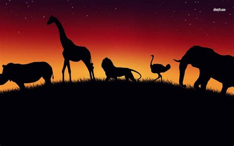 Animal Silhouette Wallpaper - silhouette wallpaper wallpapersafari