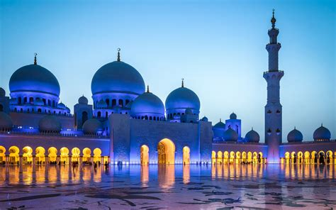 Golden Mosque Wallpaper by Sheikh Zayed Grand Mosque Blackout Dusk Abu Dhabi Hd