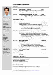 free curriculum vitae template word download cv template With cv template word