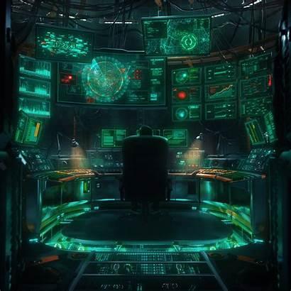 Lab Kaspersky Cyberpunk Futuristic Technology Hologram Illustration