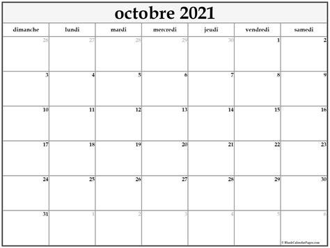 octobre  calendrier imprimable calendrier gratuit