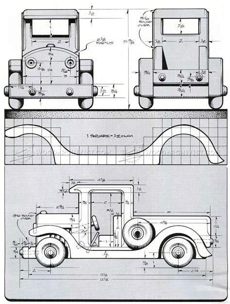 wooden toy pickup truck plans woodarchivist