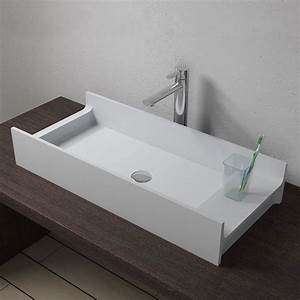 Grande Vasque À Poser : grande vasque rectangulaire poser en solid surface grande vasque poser sdv72 distribain ~ Melissatoandfro.com Idées de Décoration