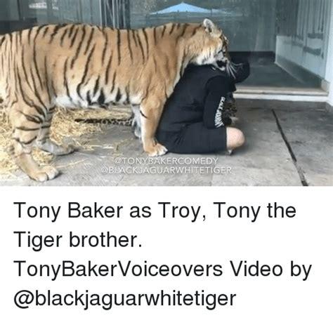 Tony The Tiger Meme - tony erco black aguarwhitetiger tony baker as troy tony the tiger brother tonybakervoiceovers