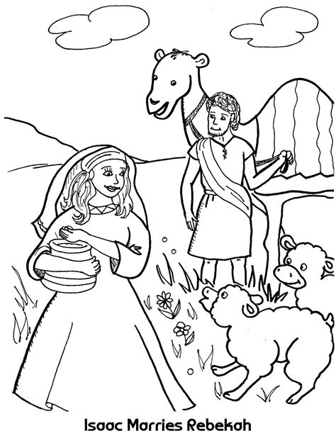 kids photo craft for cmad isaac marries rebekah coloring sheet wesleyan