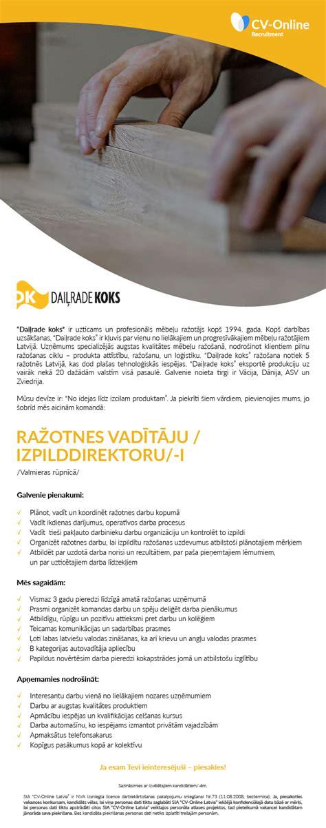 Vakance - RAŽOTNES VADĪTĀJS/-A / IZPILDDIREKTORS/-E ...
