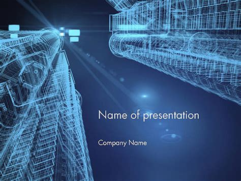abstract  architect powerpoint template backgrounds