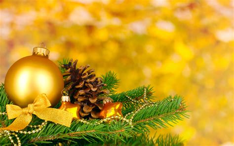 gold balls merry christmas ribbon new year christmas decoration wallpaper 2560x1600 202049