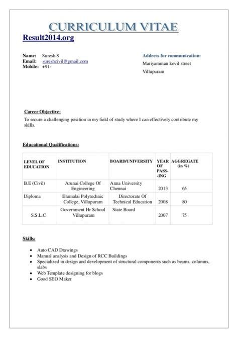 Normal Resume Format by Normal Resume Of A Fresher Pharmacist Resume Template