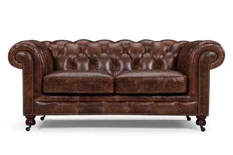canapé chesterfield canapé chesterfield en cuir kensington 2 places