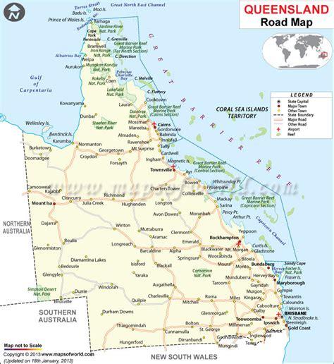 queensland road map maps globes pinterest