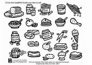 Kleurplaat gezonde voeding werkblad - Afb 5772.
