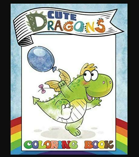 cute dragons coloring book  childrens coloring book boys paperback   ebay