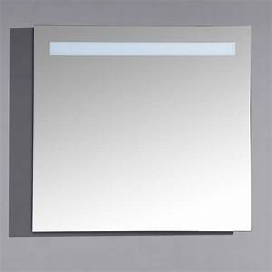 Miroir Castorama Salle De Bain : miroir lumineux 80 cm pour salle de bain avec bandeau led haut ~ Melissatoandfro.com Idées de Décoration