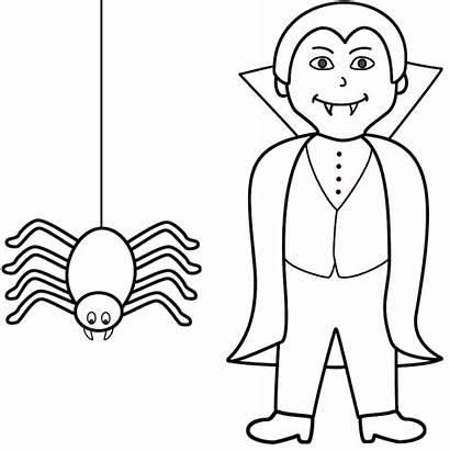 Coloring Halloween Vampire Spider Vampier Kleurplaat Clipart