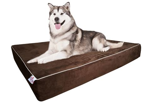 Dog Bed Orthopedic Memory Foam With Pillow Brown Extra