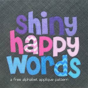 free alphabet applique pattern shiny happy world With applique letters for quilting