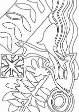 Matisse Colouring Inspired Outline Shapes Abstract sketch template