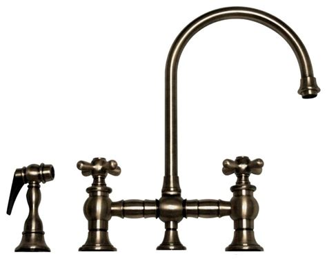 pewter kitchen faucet vintage iii bridge faucet pewter kitchen faucets by